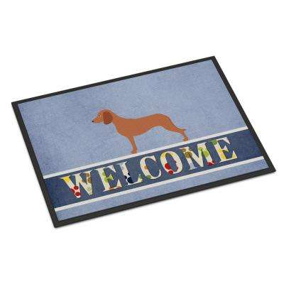 18 in. x 27 in. Indoor/Outdoor Bavarian Mountian Hound Welcome Door Mat