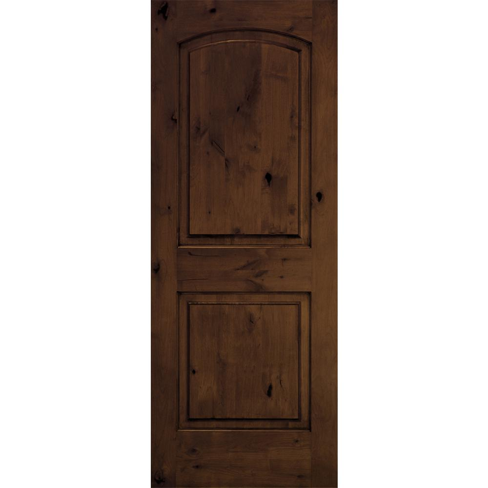 Krosswood Doors 30 In X 80 In Rustic Knotty Alder 2: Krosswood Doors 36 In. X 80 In. Rustic Knotty Alder Arch
