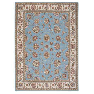 Modesto Vines Blue 8 ft. x 11 ft. Area Rug
