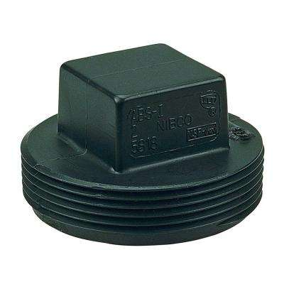 4 in. ABS DWV MIPT Cleanout Plug
