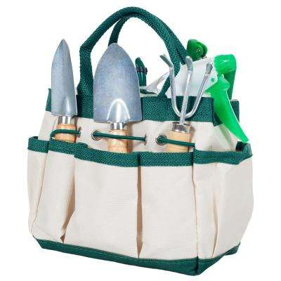 7.25 in. 7-in-1 Plant Care Garden Tool Set with Bag