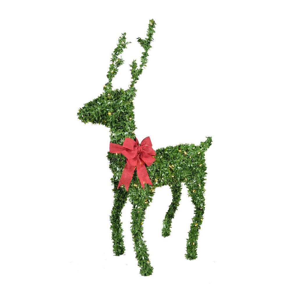 60 in. 150-Lights Standing Topiary Buck