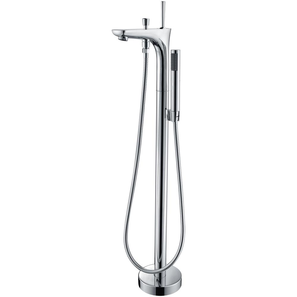 Kase Series Single-Handle Freestanding Claw Foot Tub Faucet with Hand Shower