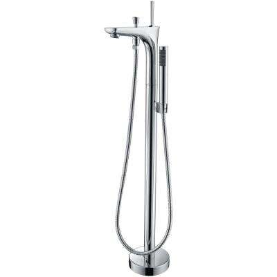 Kase Series Single-Handle Freestanding Claw Foot Tub Faucet with Hand Shower in Polished Chrome
