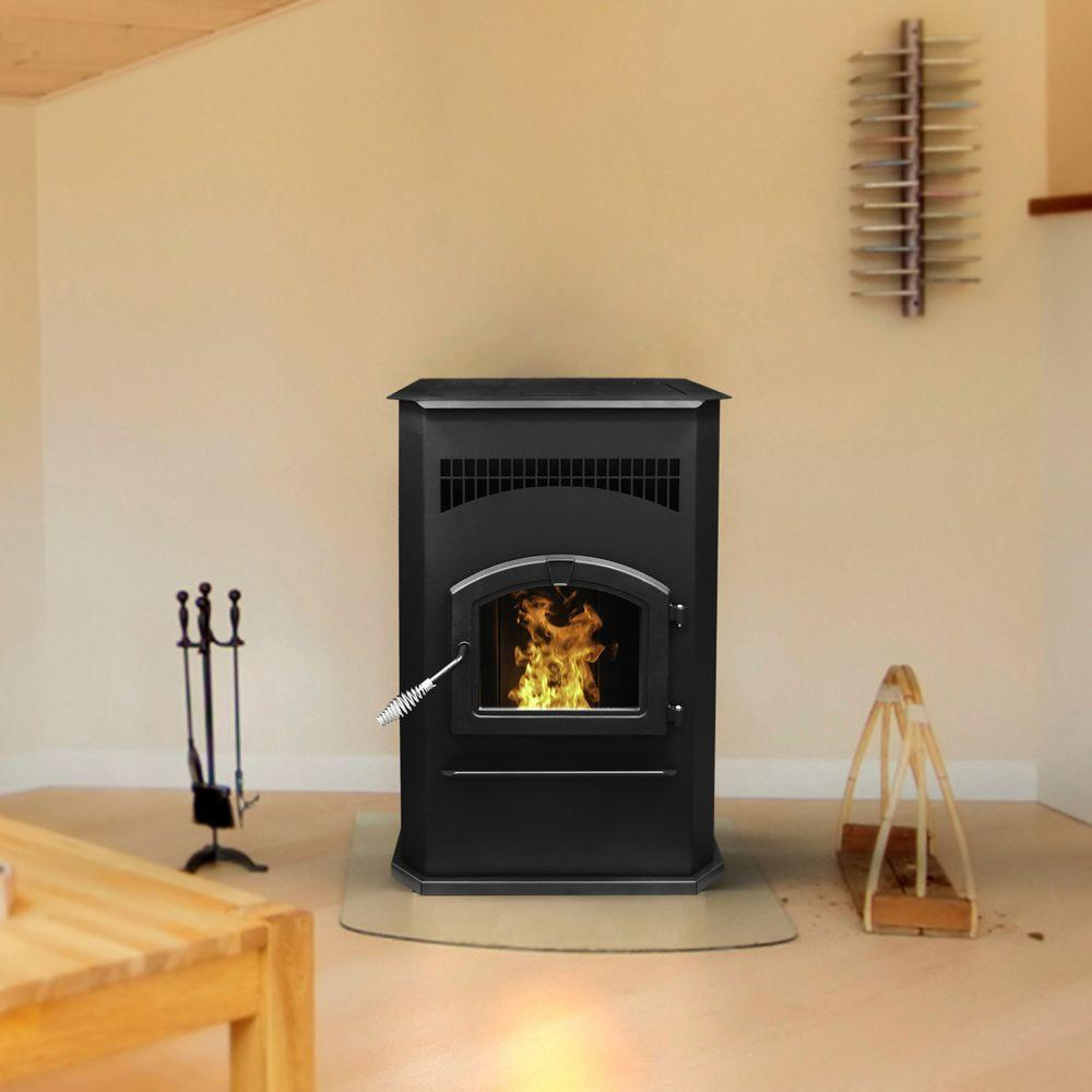 Pleasant Hearth 2,200 sq. ft. Pellet Stove with 120 lb. Hopper and Auto Ignition