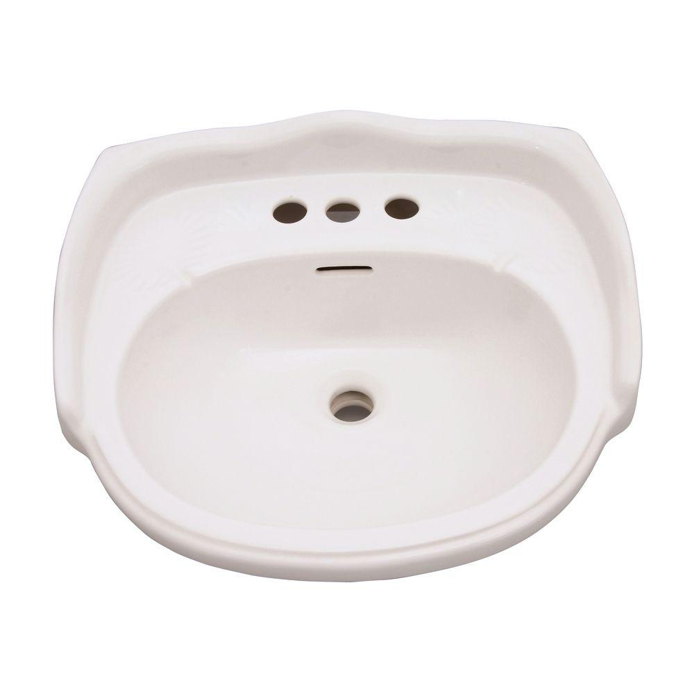 Elizabethan Classics Aberdeen 8.5 In. Pedestal Sink Basin In Bisque