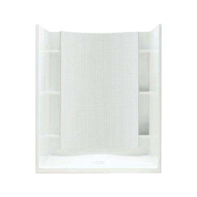 Accord 37-1/4 in. x 48 in. x 77 in. Shower Kit with Age-in-Place Backers in White