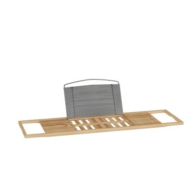 Bamboo Bath Caddy Tray with Extending Sides
