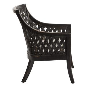 Fabulous Plantation Antique Black Lounge Chair With Cushion In Dailytribune Chair Design For Home Dailytribuneorg