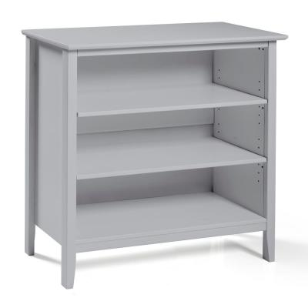 Simplicity Dove Gray Under Window Bookcase