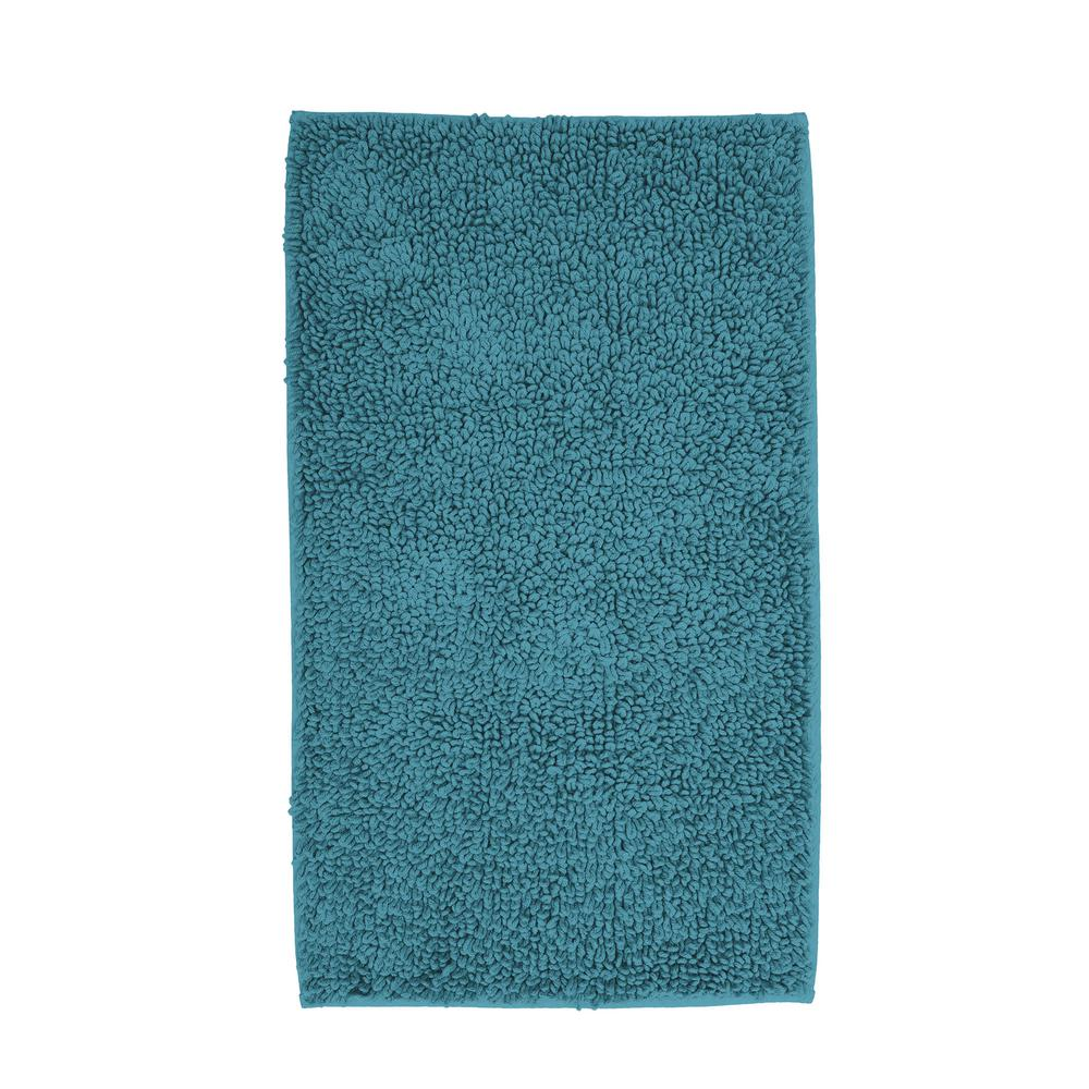 The Company Store Chunky Loop Teal 40 In. X 24 In. Cotton