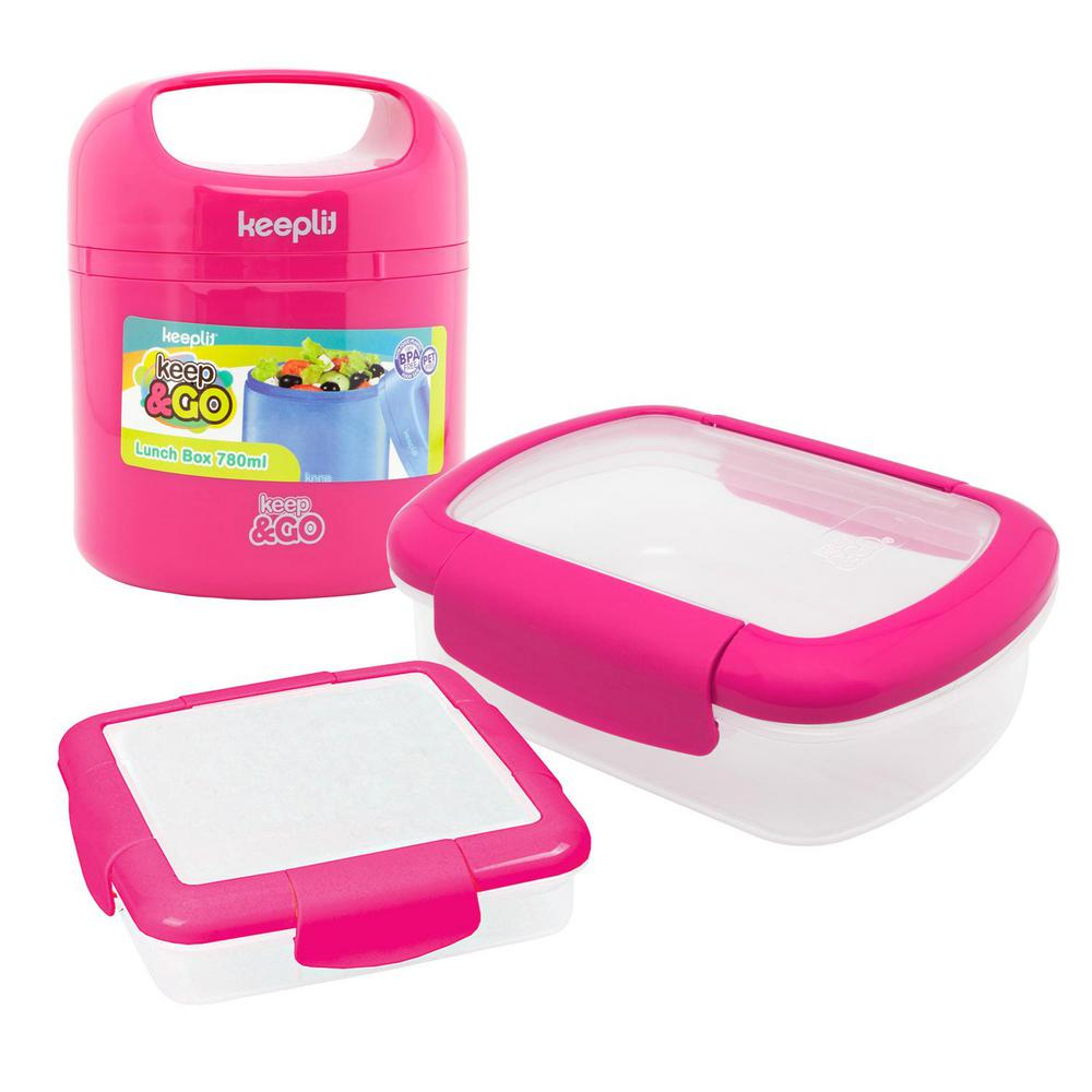 3-Piece Food Storage Container Assorted Pack in Pink
