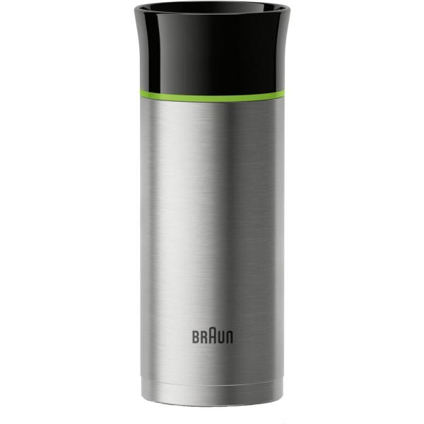 5a46423af7e Braun 11 oz. Stainless Steel Double-Wall Thermal Travel Mug BRSC001 ...