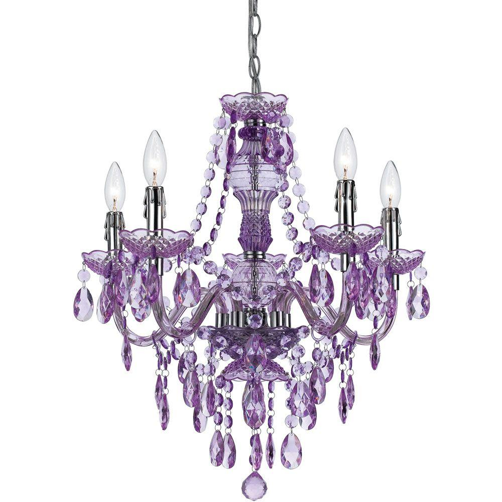 Af lighting fulton 5 light pink chandelier 8524 5h the home depot this review is fromfulton 5 light grape chandelier aloadofball Images