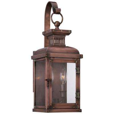 Copperton 2-Light Manhattan Copper Outdoor Wall Lantern Sconce