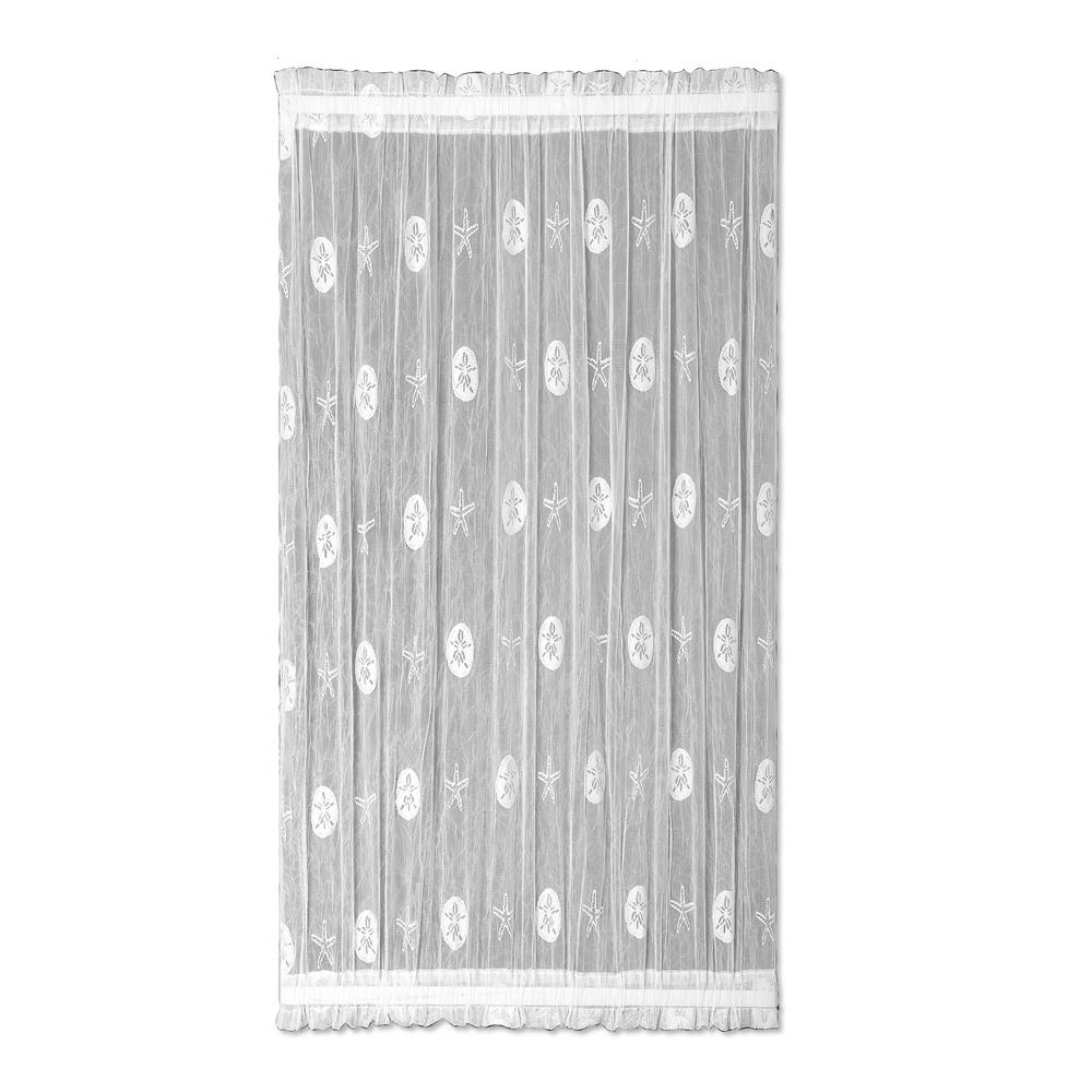Semi-Opaque Sand Dollar 45 in. L Polyester Valance in White