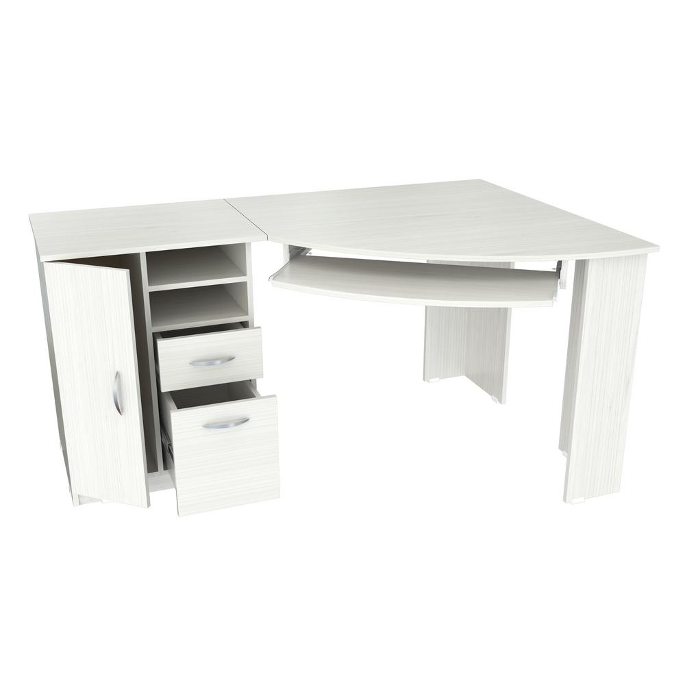 Inval Laricina White Computer Desk