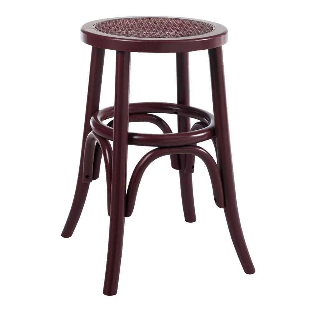Home Decorators Collection 15.25 in. W Hamilton Miso Bentwood Low Stool
