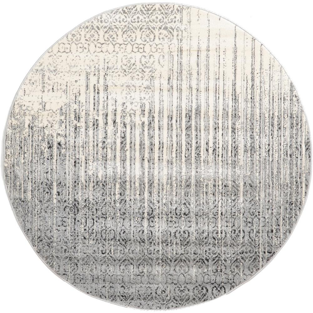 Unique Loom Del Mar Gray 6 X Round Rug