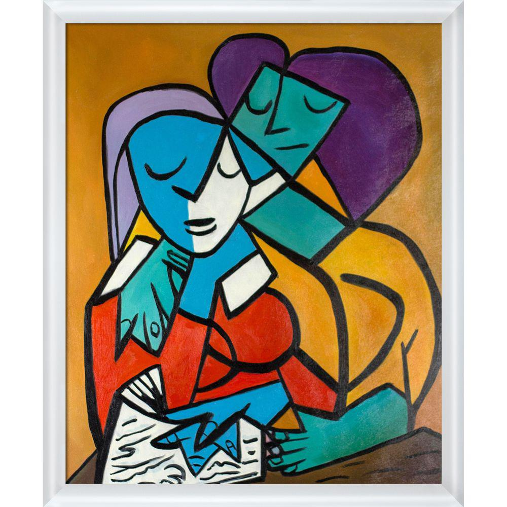 ArtistBe Picasso by Nora III with Moderne Blanc Frameby Nora Shepley Canvas Print, Multi-color was $695.5 now $338.31 (51.0% off)