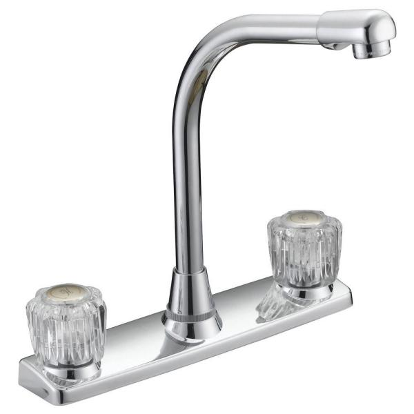 Traditional Collection 2-Handle High-Rise Kitchen Bar Faucet in Chrome