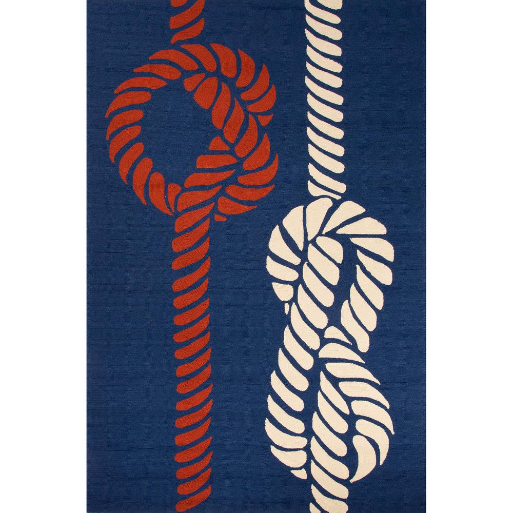 Jaipur living knotty nautical blue 2 ft x 3 ft abstract for Gardening tools jaipur