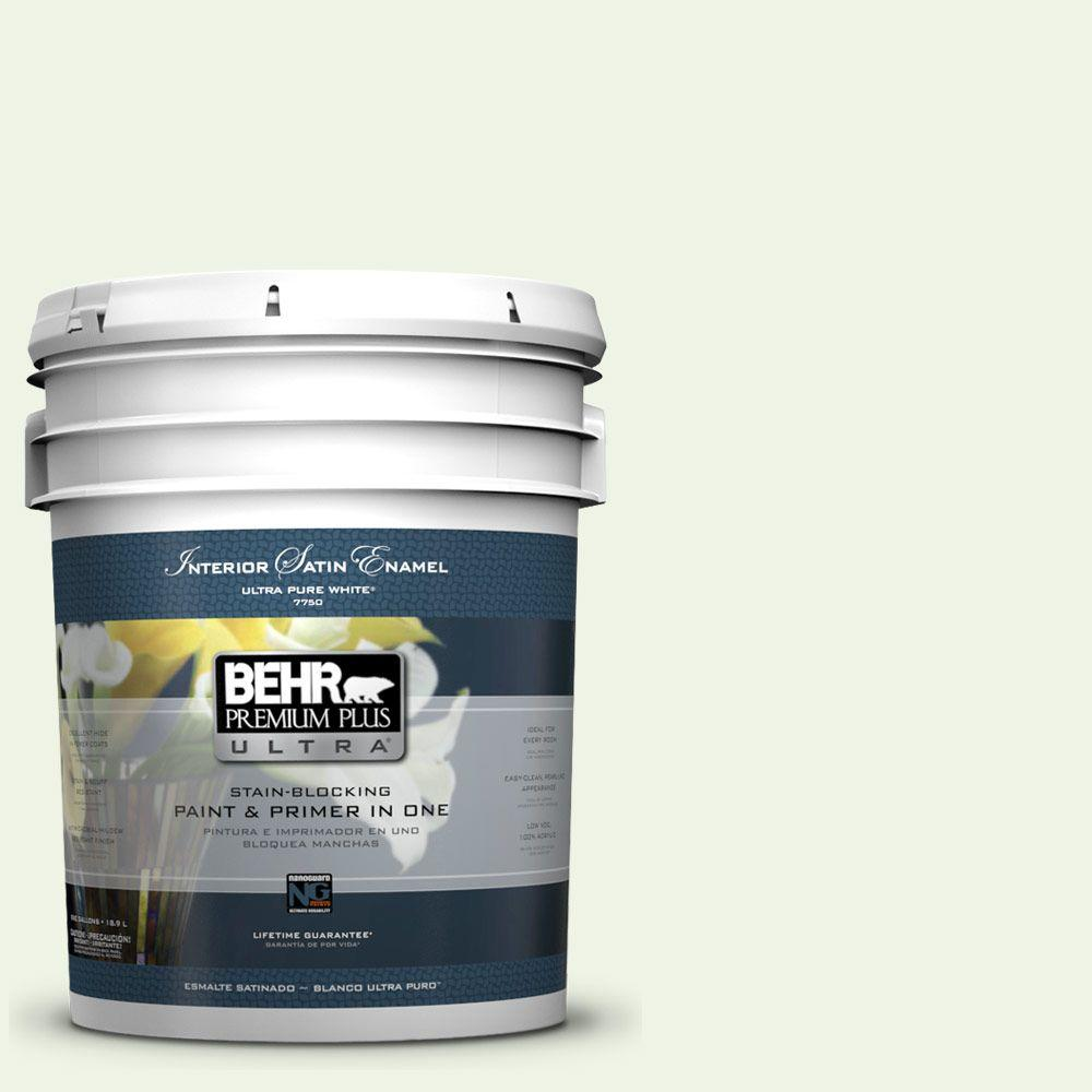 BEHR Premium Plus Ultra 5-gal. #PPL-37 Aspen Whisper Satin Enamel Interior Paint