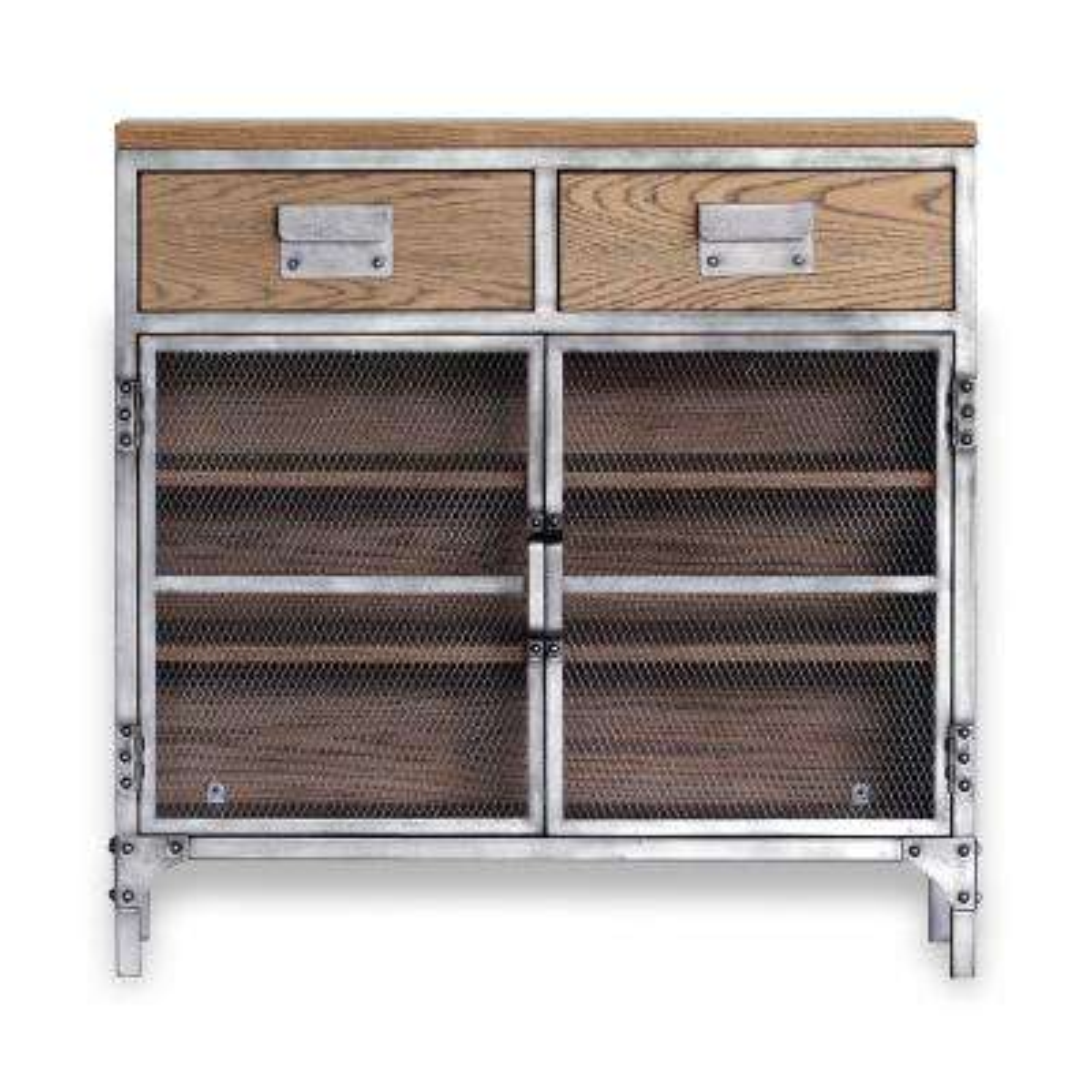 Jaxon Antiqued Steel Small Cabinet