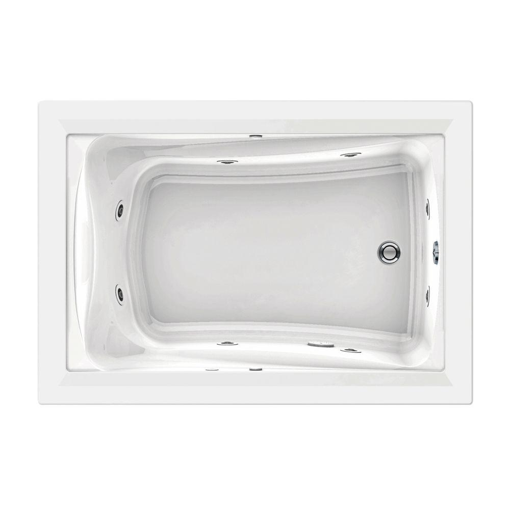 American Standard Green Tea EverClean 5 ft. x 42 in. Whirlpool Tub in White