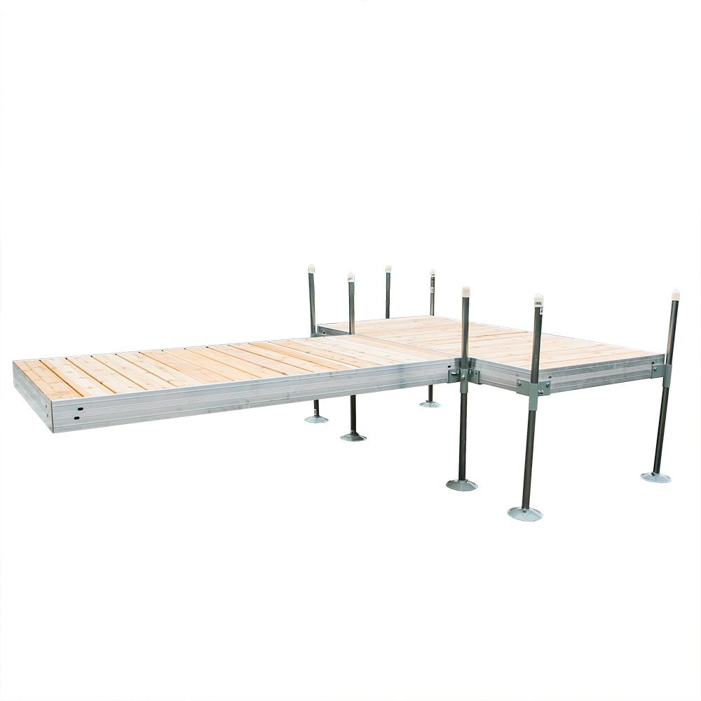 Tommy Docks 12 ft. T-Style Aluminum Frame with Cedar Decking ...