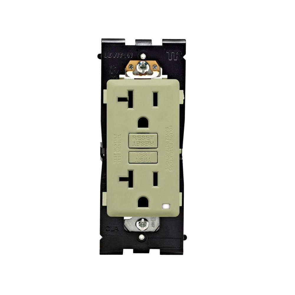 Leviton Renu 20 Amp Tamper Resistant GFCI Duplex Outlet - Prairie Sage-DISCONTINUED
