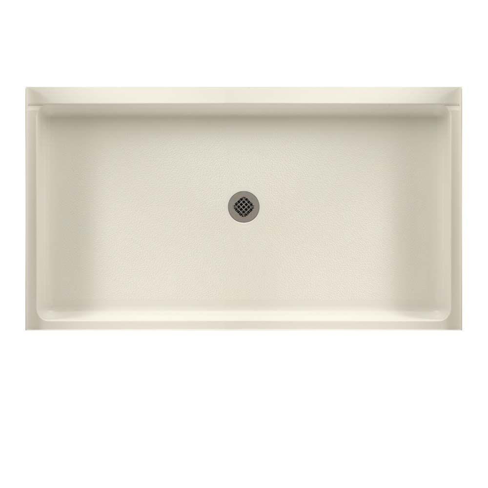Swan 32 in. x 60 in. Solid Surface Single Threshold Cente...