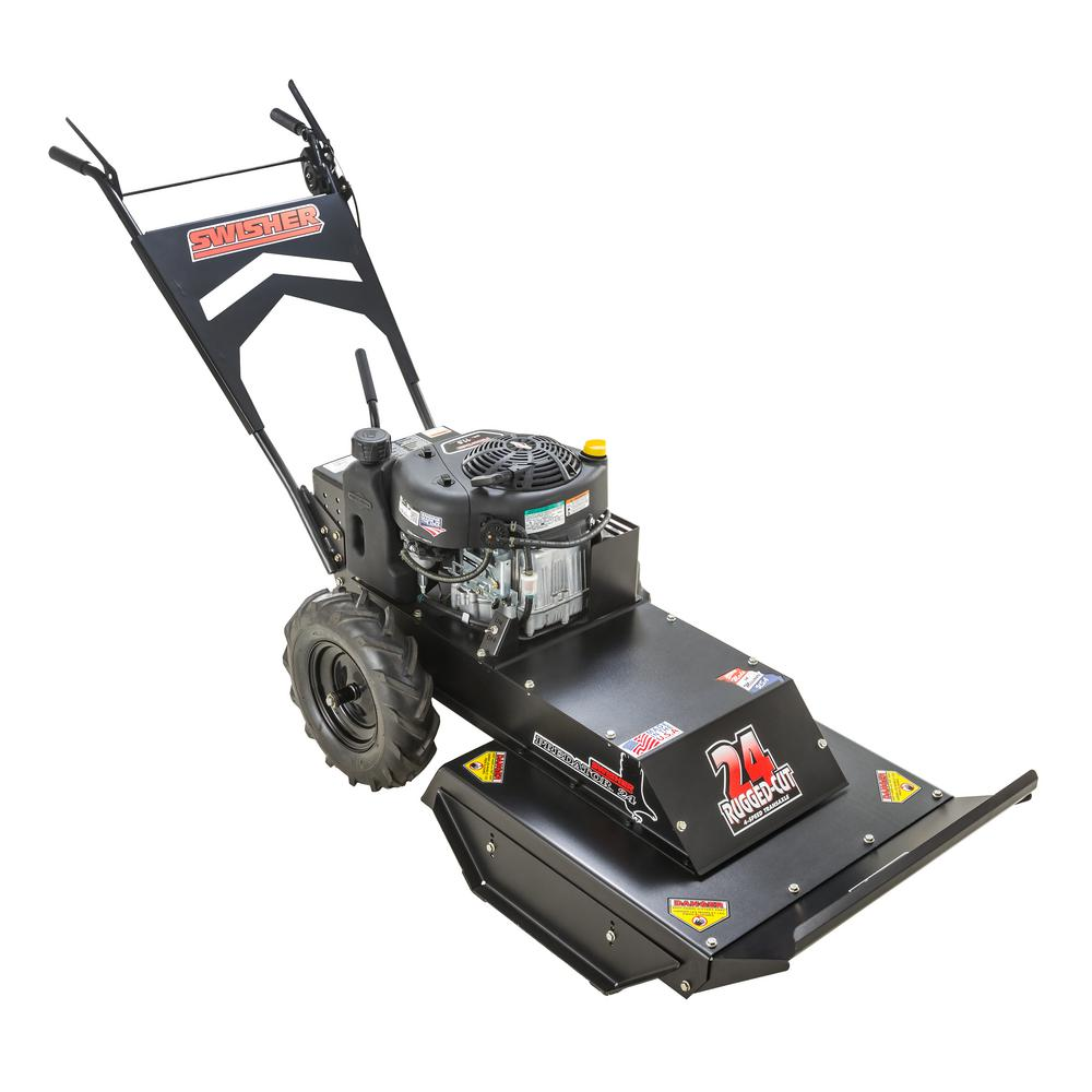 Swisher Predator 24 in. 11.5 HP Recoil Start Briggs & Stratton Gear Drive 4-Speed Self-Propelled Brush Cutter Gas Mower