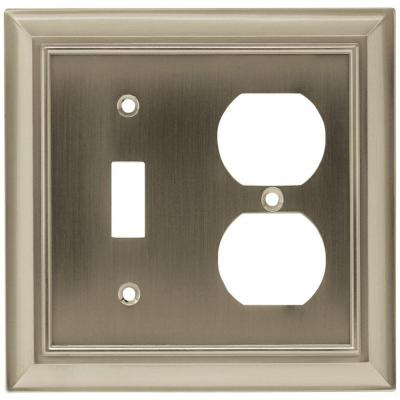 Nickel 2-Gang 1-Toggle/1-Duplex Wall Plate (1-Pack)