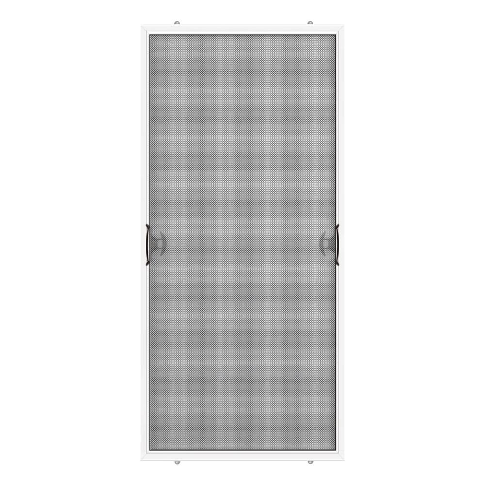 Stanley Doors 3575 In X 7675 In White Reversible Patio Screen