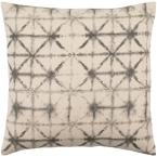 Lacelles Grey Graphic Polyester 20 in. x 20 in. Throw Pillow
