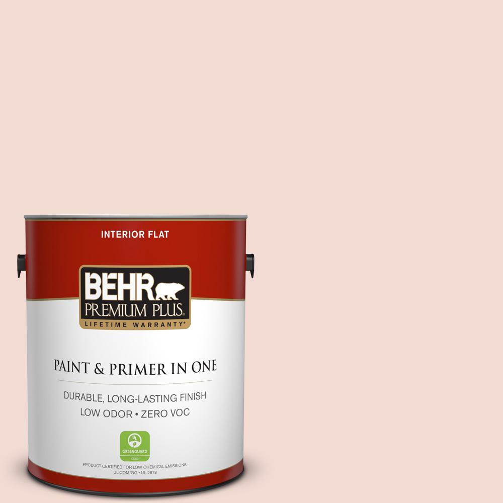 BEHR Premium Plus 1-gal. #220E-1 Tantalizing Tan Zero VOC Flat Interior Paint