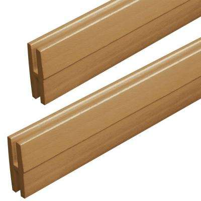 0.75 in. x 2.15 in. x 4 ft. Sierra Cedar Vinyl Lattice Divider Moulding (2-Pack)