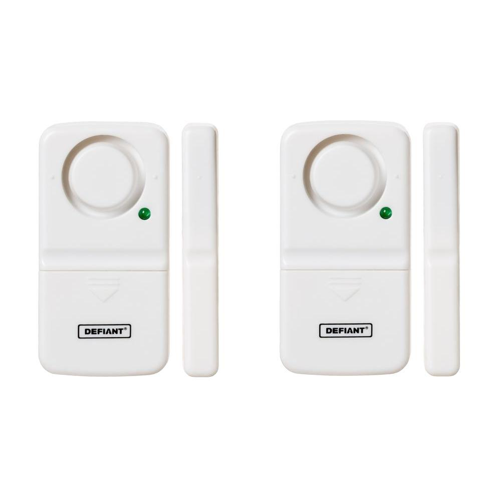 Defiant Wireless Home Security Door Window Alarm 2 Pack