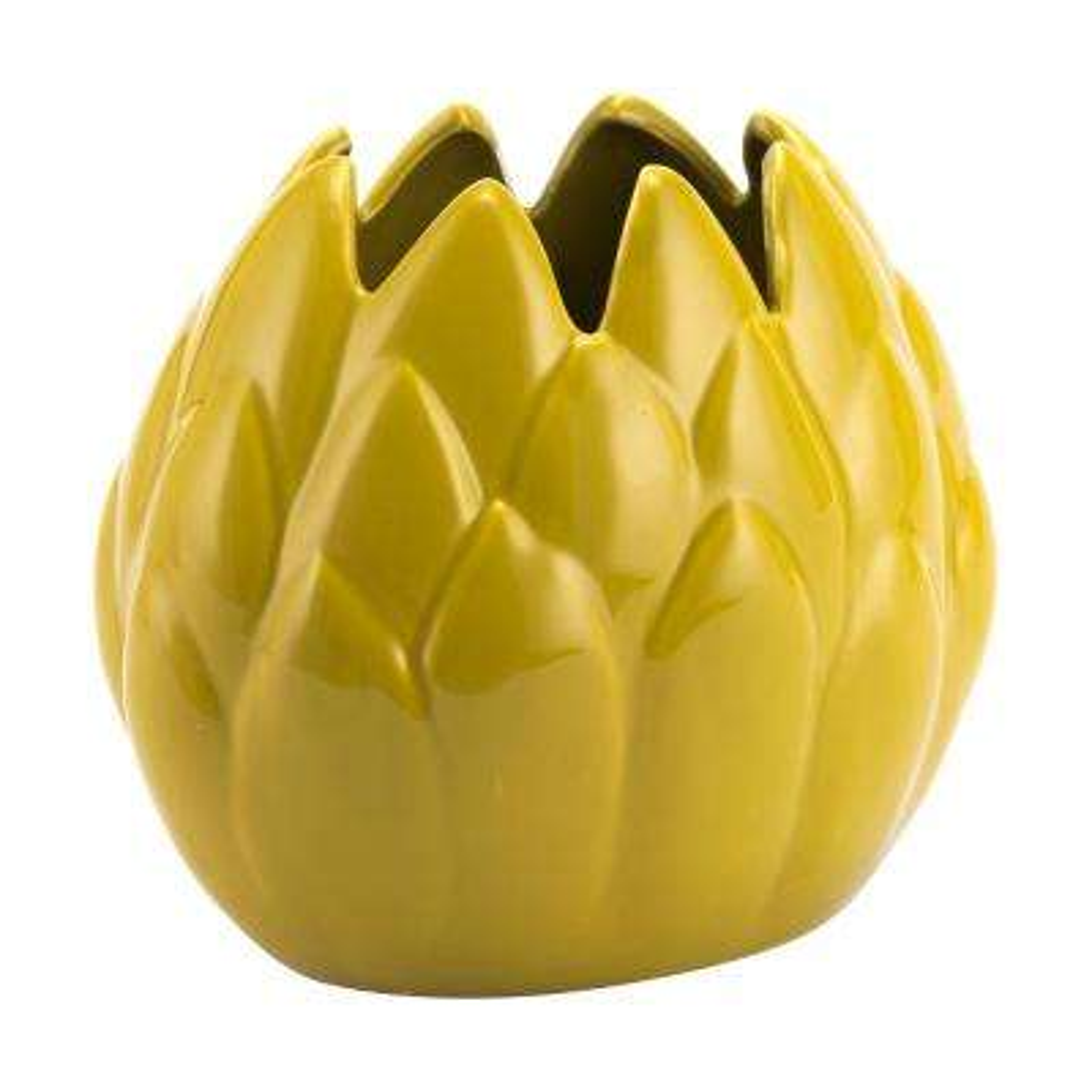Lemon Yellow Arti Small Decorative Vase