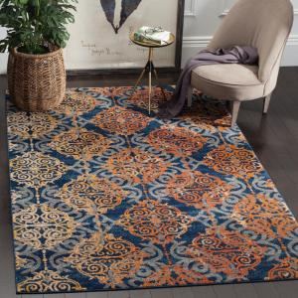 Safavieh evoke blue orange 6 ft 7 in x 9 ft area rug evk230s 6 the home depot