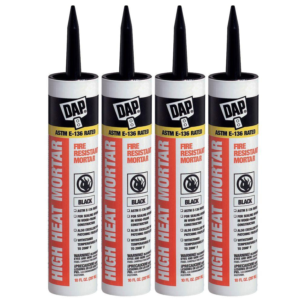 DAP 10.1 oz. Black Stove and Fireplace Mortar (4-Pack)-DISCONTINUED