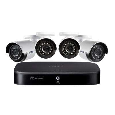 8-Channel 1080p with DVR 1TB HDD Surveillance System and Wired 4x Cameras