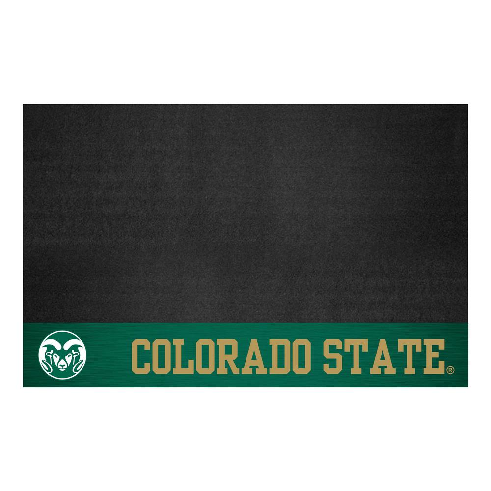 FANMATS NCAA 26 in. x 42 in. Colorado State University Grill Mat