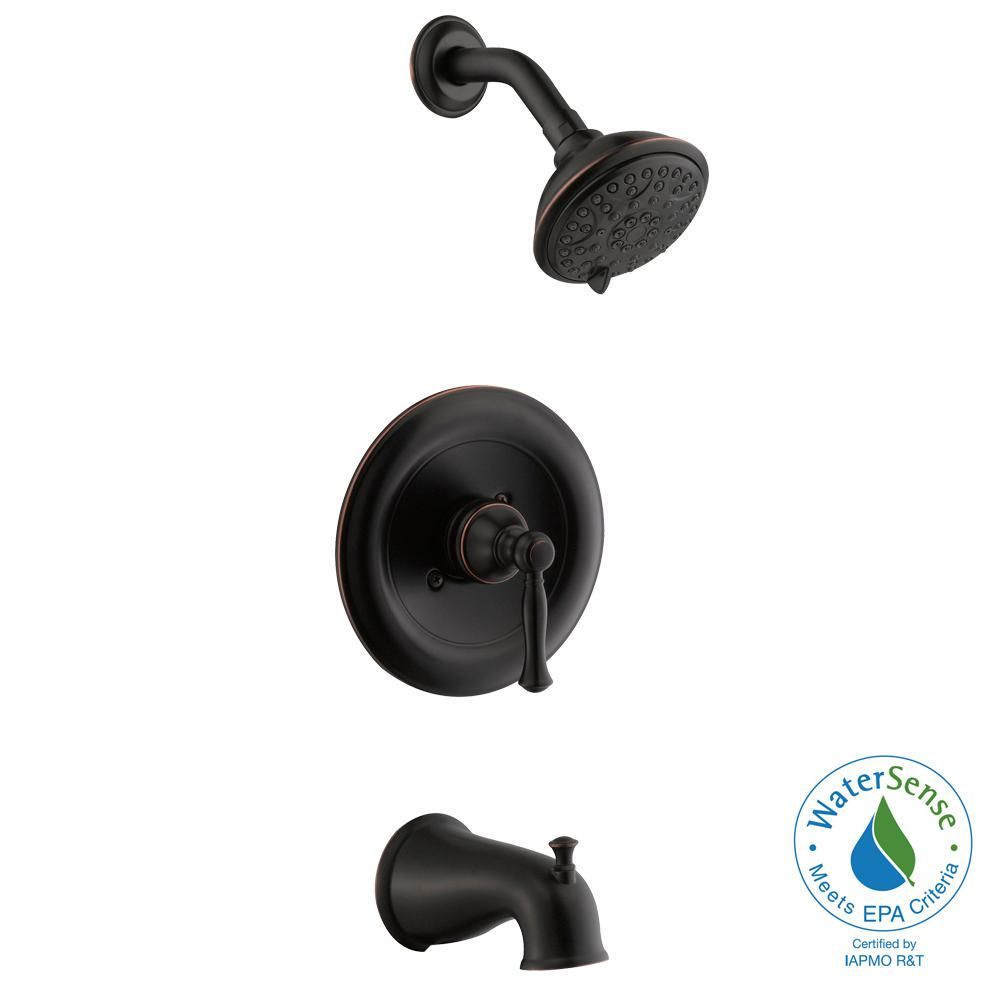 3 handle tub and shower faucet bronze. Fairway Single Handle 3 Spray Tub and Shower Faucet in Bronze  Valve Included American Standard Marquette 1