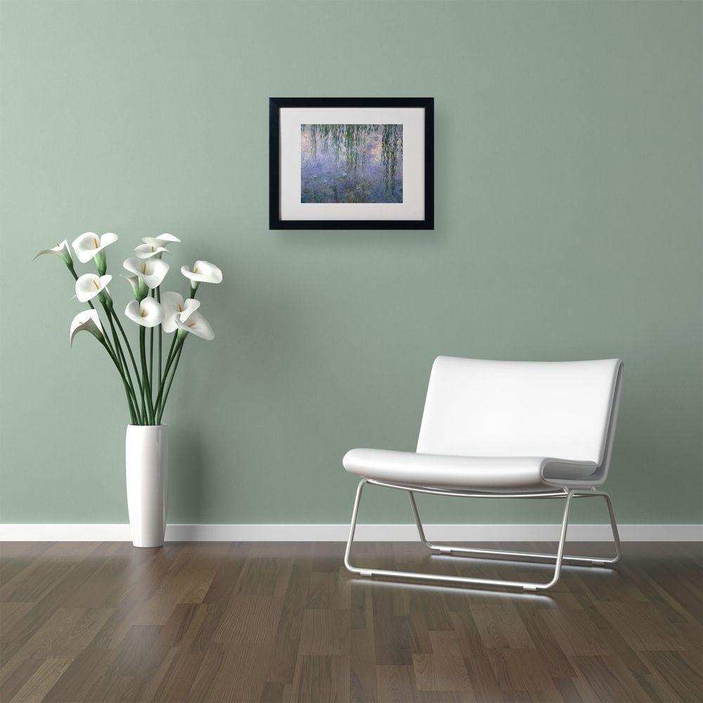 Trademark Fine Art 11 in. x 14 in. Waterlilies III 1840-1926 Matted Black Framed Wall Art