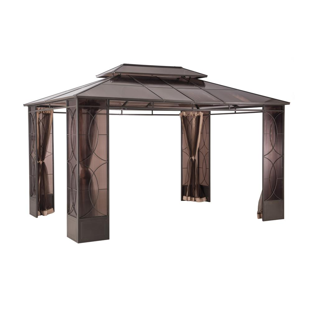 Sunjoy Reflections 10 ft. x 14 ft. Steel Gazebo