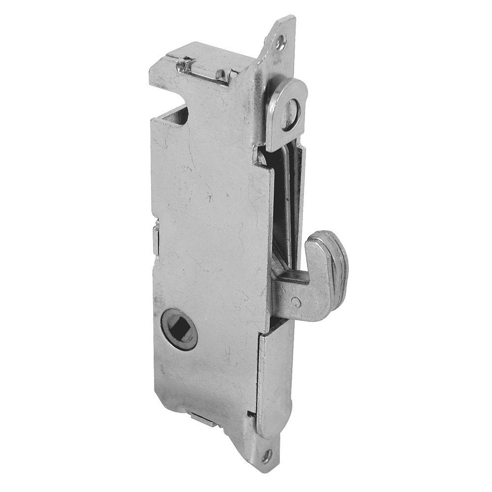 Patio Door Mortise Latch: Prime-Line Stainless Steel Round Face 45-Degree Sliding