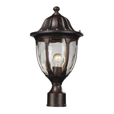 Glendale 1-Light Outdoor Regal Bronze Post Light