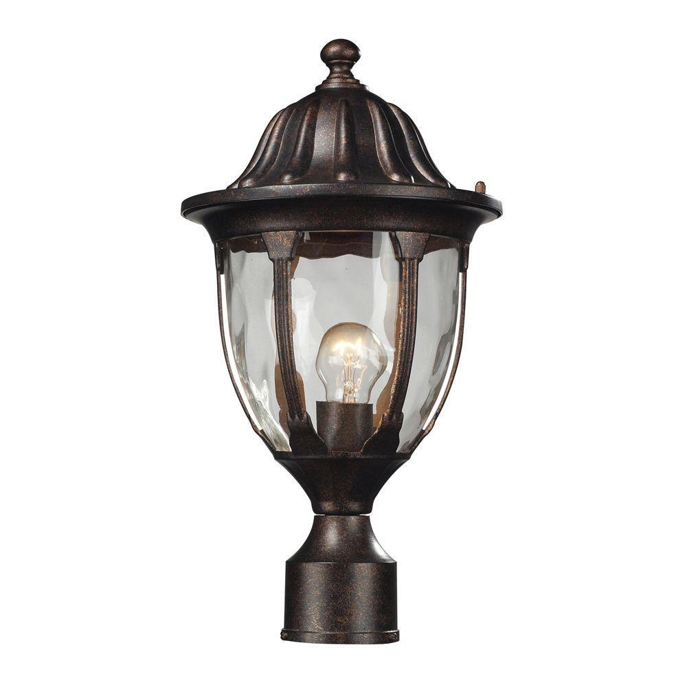 Glendale 1-Light Outdoor Regal Bronze Post Light